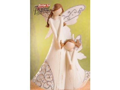 Rodina A - Dvě dívky 23 cm  - Paramit - 4208