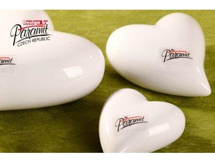 Srdíčko bílé 8 cm  - Paramit - 11055-8