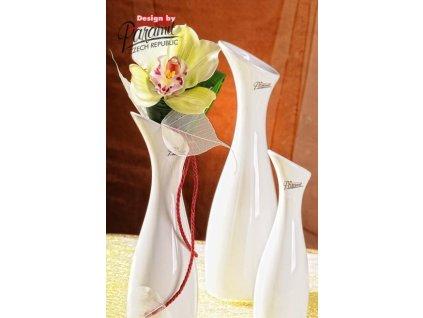 Váza bílá 20 cm Soffi