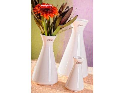 Mia váza bílá 16 cm