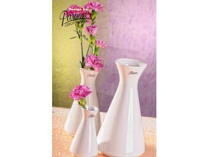 Mia váza bílá 20 cm