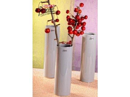 Polly váza šedá 25 cm