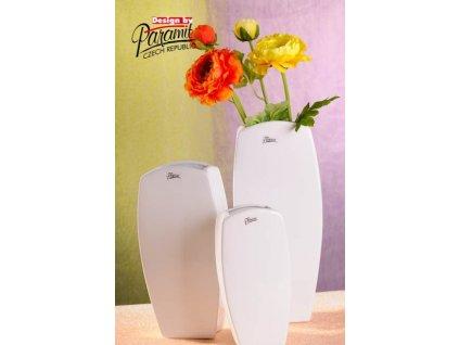 Vanda váza bílá 33 cm