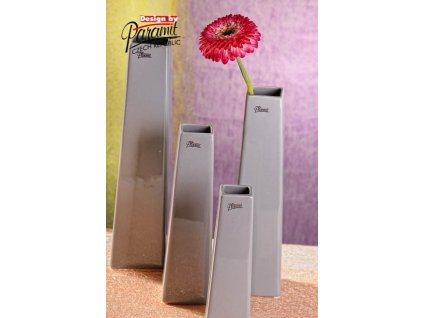 Wendy váza šedá 20 cm  - Paramit - 11097-20GY