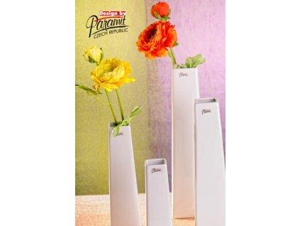 Wendy váza bílá 20 cm  - Paramit - 11097-20W