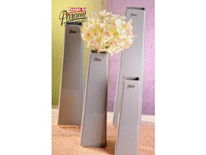 Wendy váza šedá 25 cm