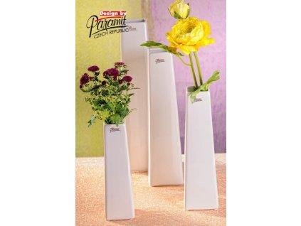 Wendy váza bílá 25 cm