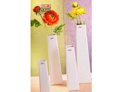 Wendy váza bílá 35 cm