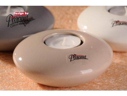 Svícen béžový 11 cm  - Paramit - 12014-11C