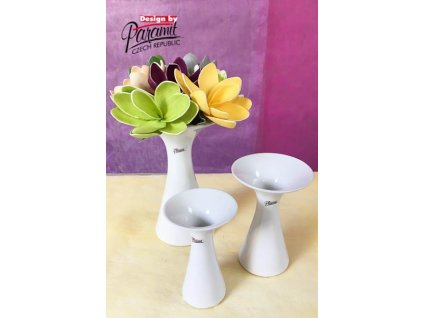 Agáta vázabílá 15 cm  - Paramit - 12019-15W