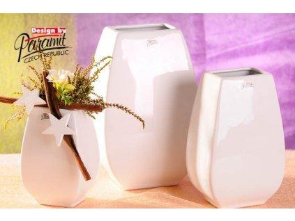 Alice váza bílá 15 cm  - Paramit - 12040-15W