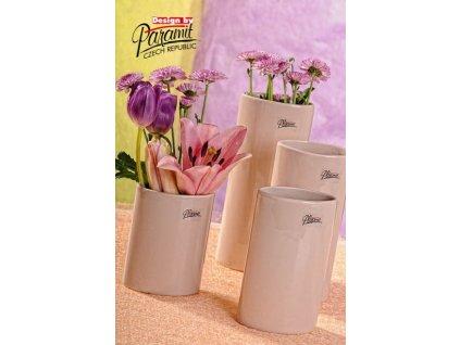 Dita váza béžová 12 cm