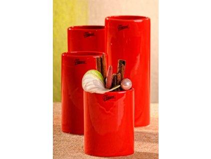 11083 12R Dita váza červená 12 cm