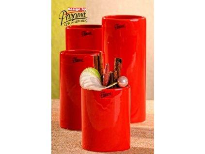 Dita váza červená 12 cm  - Paramit - 11083-12R