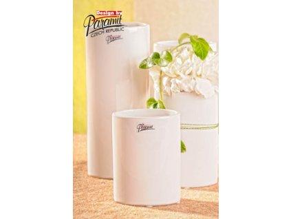 Dita váza bílá 12 cm