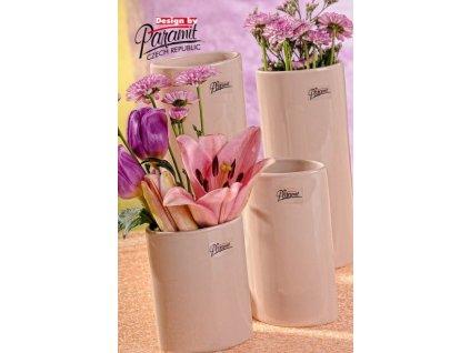 Dita váza béžová 15 cm