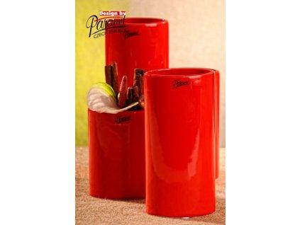 Dita váza červená 15 cm
