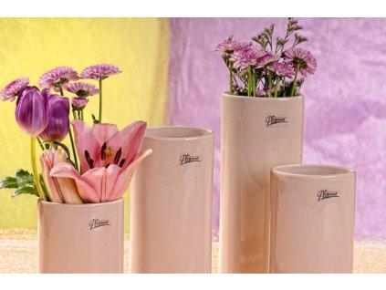11083 18C Dita váza béžová 18 cm
