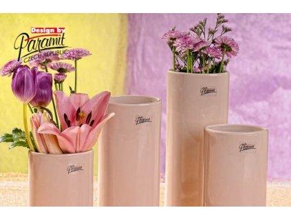 Dita váza béžová 18 cm
