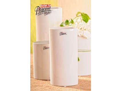 Dita váza bílá 18 cm  - Paramit - 11083-18W