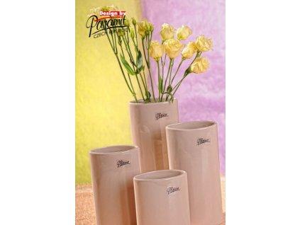 Dita váza béžová 21 cm