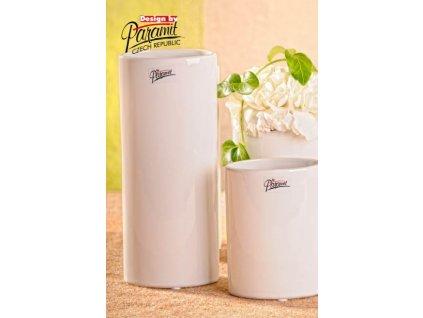 Dita váza bílá 21 cm  - Paramit - 11083-21W