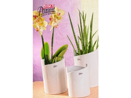 Gudrun váza bílá 22 cm