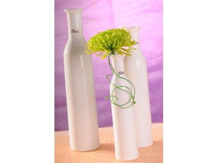 12037 25W Karin váza bílá 25 cm