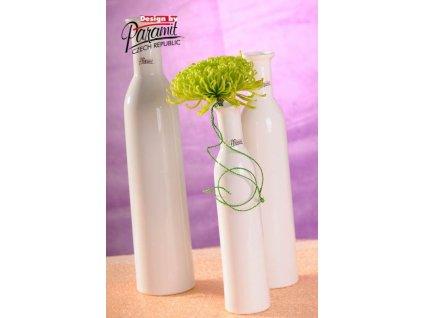 Karin váza bílá 25 cm