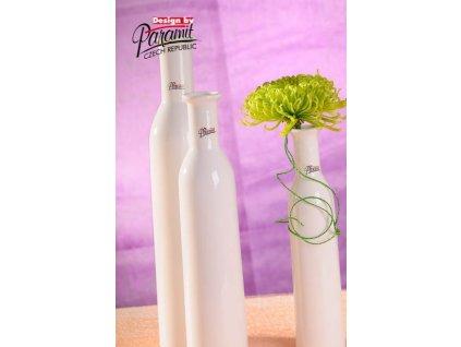 Karin váza bílá 30 cm