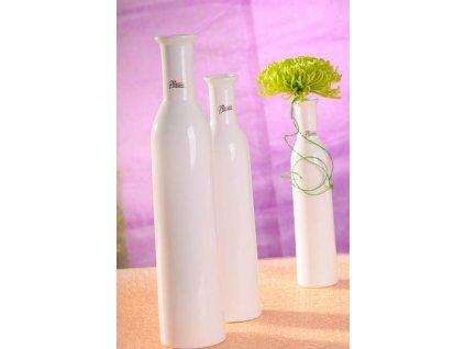 12037 35W Karin váza bílá 35 cm