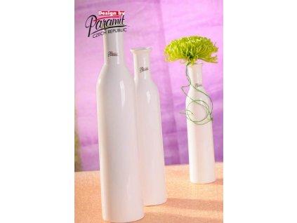 Karin váza bílá 35 cm