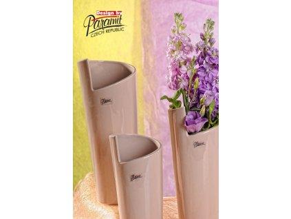 Médea váza béžová 25 cm