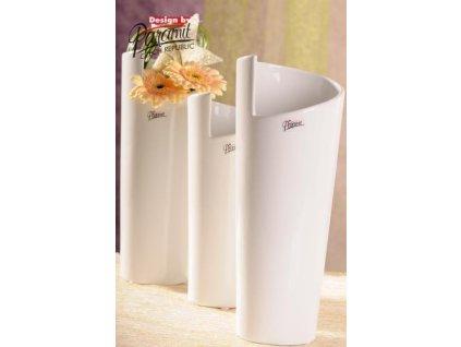Médea váza bílá 31 cm