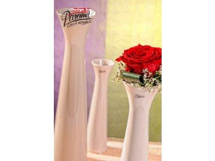 Sisi váza béžová 25 cm  - Paramit - 11070-25C