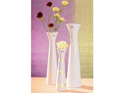 11070 34W Sisi váza bílá 34 cm