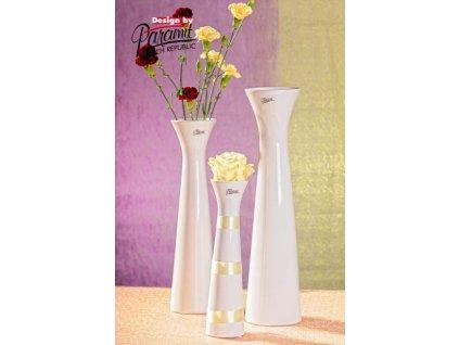Sisi váza bílá 34 cm  - Paramit - 11070-34W