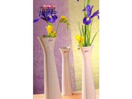 Sisi váza béžová 40 cm