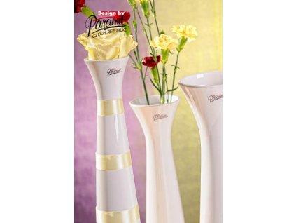 Sisi váza bílá 40 cm