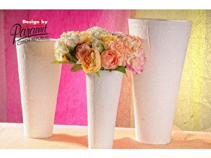 Terakota váza bílá 50 cm