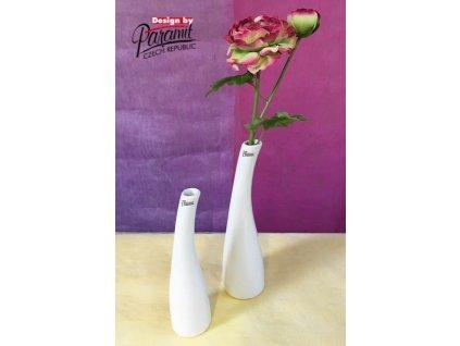 Tina váza bílá 25 cm