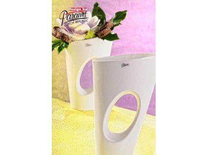 Yoko váza bílá 35 cm  - Paramit - 11068-35W
