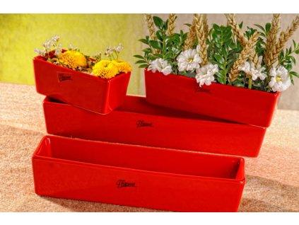 11085 24R Vlasta žardinka červená 24 cm