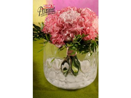 Asymetrie váza sklo 16 cm