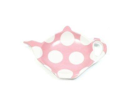 Porcelánový odkladač na čajový sáček růžový - Polkadot PD2051 - Maxwell&Williams