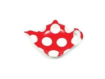 Miska na čajový sáček červený - Polkadot  - Maxwell&Williams