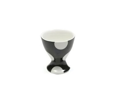 Porcelánový kalíšek na vejce černý - Polkadot  - Maxwell&Williams