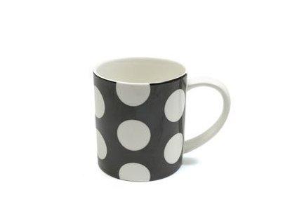 Porcelánový kávový hrnek 360 ml černý - Polkadot  - Maxwell&Williams