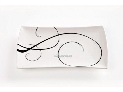 Porcelánový talíř obdélníkový 20x11 cm - Breeze  - Maxwell&Williams