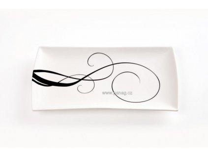 Porcelánový talíř obdélníkový 30x17 cm -  Breeze  - Maxwell&Williams